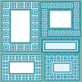 Set of vertical and horizontal rectangular frames Royalty Free Stock Images