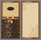 Set of vertical invitations Stock Photos
