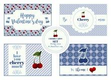 Set vertical karty dla stValentine ` s dnia ilustracji
