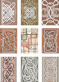 Set of vertical knot decorative patterns Royalty Free Stock Photos