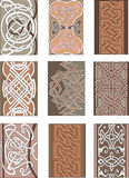 Set of vertical knot ornamental patterns Royalty Free Stock Image