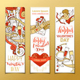 Set of vertical love banners. Royalty Free Stock Image