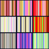 Set of vertical striped patterns Royalty Free Stock Photos