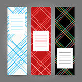 Set of Vertical Tartan Banners. Abstract Geometric ornament. Vec Royalty Free Stock Photography