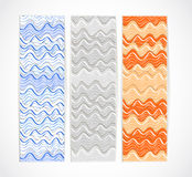 Set of vertical vector information banners Stock Photo