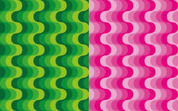 Set of vertical waves patterns Stock Photos