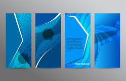 Set of vertical web banner layout background12 vector illustration