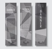 Set of vertical web banners standard size. Royalty Free Stock Photography