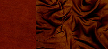 Set of very dark red suede leather textures Royalty Free Stock Photography