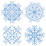 Set of very modern snowflakes Royalty Free Stock Image