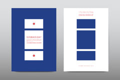 Set of Veterans Day brochure, poster templates in USA flag style. Beautiful design  Royalty Free Stock Image