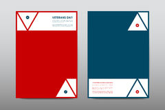 Set of Veterans Day brochure, poster templates in USA flag style. Beautiful design and layout Stock Photos