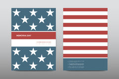 Set of Veterans Day brochure, poster templates in USA flag style. Beautiful design  Royalty Free Stock Photo