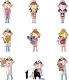 Set of veterinarian Stock Images