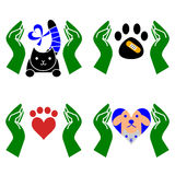 Set of veterinary icon Royalty Free Stock Photography