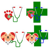 Set of veterinary icon Stock Images