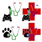 Set of veterinary icon Stock Photos