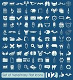 Set of veterinary icons Royalty Free Stock Image