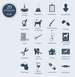 Set veterinary icons. Number - 20. Vector icons Stock Photography