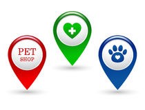Set of veterinary pointers Royalty Free Stock Photos