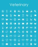 Set of veterinary simple icons Royalty Free Stock Image