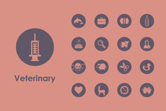 Set of veterinary simple icons Royalty Free Stock Photography