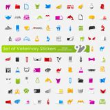 Set of veterinary stickers Stock Photography
