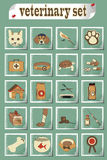 Set of veterinary vector icons Royalty Free Stock Photos
