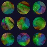 Set of vevtor planets Stock Images
