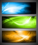 Set of vibrant banners Stock Photography