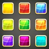 Set of vibrant bright glossy web buttons Stock Image
