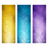 Set of Vibrant Vertical Banners. Modern Abstract Background with Sparkles, Vector Illustration Royalty Free Stock Images