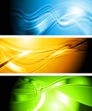 Set of vibrant wavy banners Royalty Free Stock Photo