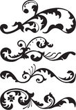 Set of victorian dividers line vector illustration