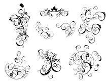 Set of victorian elements royalty free stock photo