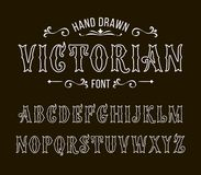 Set of Victorian style alphabet letters Royalty Free Stock Photo