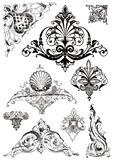 Victorian style ornaments. Set of victorian style ornaments stock illustration