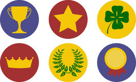 A set of victory themed icons Stock Photography