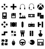 Set of Video Game vector black glyph icon or illustration. Editable stroke and color. Perfect use for pattern, design, app, icon, logo, etc stock illustration