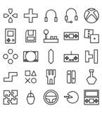 Set of Video Game vector black line icon or illustration. Editable stroke and color. Perfect use for pattern, design, app, icon, logo, etc stock illustration