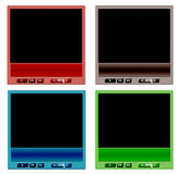 Set of video player stock photo