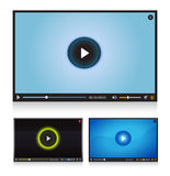 Video player set Stock Images