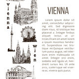 Set of Vienna symbols. vertical stripe with description text. Royalty Free Stock Image