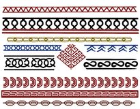 Set of viking border designs. A set of different viking style border pattern designs Royalty Free Stock Photos