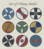 Set of viking shields Royalty Free Stock Photo