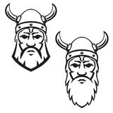 Set of viking warrior head. Design element for emblem, sign, badge. Vector illustration vector illustration