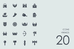 Set of Vikings icons Stock Photography