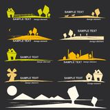 Set of village design elements Royalty Free Stock Image