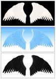 set vinge för ängel Royaltyfria Bilder