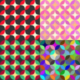 Set of vintage abstract seamless patterns Stock Photos